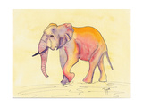 Rainbow Elephant Posters av Beverly Dyer