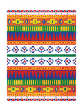 Aztec Patterned Mate Colors Premium Giclee Print by Jace Grey