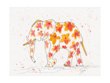 Elephant Flower Plakater av Beverly Dyer