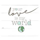 Love World Poster av Jace Grey
