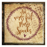 Music Speaks Prints by Melody Hogan