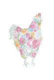 Floral Hen Kunstdruck von Pam Varacek