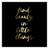Find Beauty Black Gold Prints by Jelena Matic