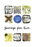 Greetings from Earth Affiches par Kirsi Sundell