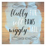 Fur Paws Tail Wood Sign Prints by Jelena Matic
