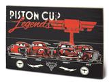 Cars 3 - Piston Cup Legends Træskilt