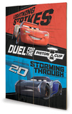Cars 3 - Duel For The Piston Cup Wood Sign