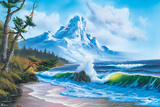 Bob Ross - Waves Crashing Poster af Bob Ross