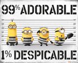Despicable Me 3 - 99% Adorable 1% Despicable Plakater