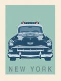 New York - Cop Car Giclée-Druck von Ben James