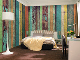 Artesian Wooden Wall - Non Woven Mural Wandgemälde