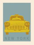 New York - Cab Giclée-Druck von Ben James