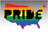 USA Pride - Rainbow Flag Print