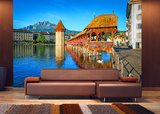 Alps Lake - Non Woven Mural Wallpaper Mural