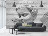 Brick Wall Cupid Wallpaper Mural