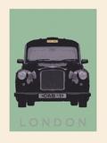 London - Cab I Giclée-Druck von Ben James