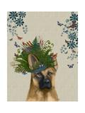 German Shepherd Milliners Dog Lámina giclée prémium por  Fab Funky