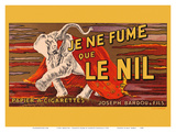 I Only Smoke Le Nil - Cigarette Papers - Joseph Bardou and Sons Posters by Leonetto Cappiello