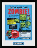 Minecraft - Grow Your Own Zombie Lámina de coleccionista