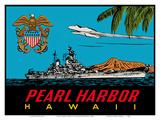 Pearl Harbor Hawaii - U.S. Navy Destroyer Battleship Prints by  Lindgren Brothers