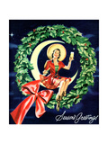 """""""Seasons Greetings"""" Retro Christmas Beer Advertisement Plakater af  Piddix"""