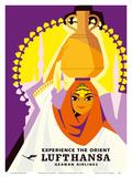 Experience the Orient - Lufthansa German Airlines Poster von Hans Rott