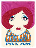 England - Pan American World Airways Poster by  Pacifica Island Art