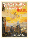 Great Aviation Week of 1910 - Rouen, France Print by Charles Rambert