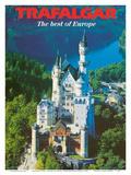 Trafalgar Tours - The Best of Europe - Neuschwanstein Castle - Bavaria, Germany Poster di  Pacifica Island Art
