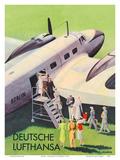 Berlin - German (Deutsche) Lufthansa Airlines Prints by  Siegward