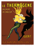 Le Thermogène (Thermogen) Poultice - Generates Heat and Cures: Cough, Rheumatism, Side Ache Julisteet tekijänä Leonetto Cappiello
