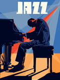 Der Klavierspieler Kunstdrucke
