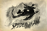 Spider-Man Vintage Watercolor Print