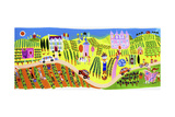 People Visiting Vineyards and Wine Tasting on Vacation Posters by Chris Corr