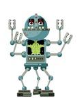 Robot on White Prints by Matthew Laznicka