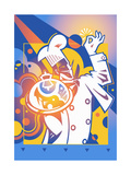 Chef Bringing Silver Service Domed Tray Posters by David Chestnutt