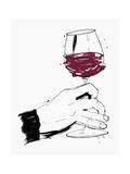 Hand Swirling Glass of Red Wine Giclée-Premiumdruck von Ben Tallon