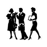 Business People Talking Posters af David Chestnutt