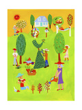 People Looking after their Growing Savings and Investments in Garden Prints by Chris Corr