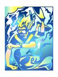 Young Woman Snorkeling Poster von David Chestnutt