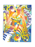 Various Musical Instruments Posters by David Chestnutt