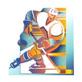 Giocatore di hockey su ghiaccio Poster di David Chestnutt