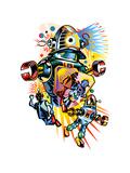 Colorful Robots Prints by David Chestnutt
