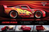 Cars 3 - (Lightning Mcqueen Stats) Plakater