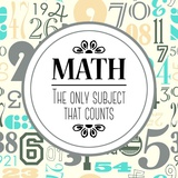 Math The Only Subject That Counts Gray Pôsteres por  Color Me Happy