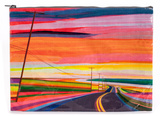 Sunset Highway Jumbo Pouch Zipper Pouch
