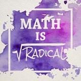 Math Is Radical Watercolor Splash Purple Pôsters por  Color Me Happy