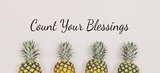 Count Your Blessings Pineapples Poster by  Color Me Happy