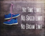 No Time Limit No Speed Limit No Dream Limit Blue Shoes Poster di  Sports Mania
