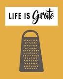 Retro Kitchen I - Life Is Grate Posters tekijänä  Color Me Happy